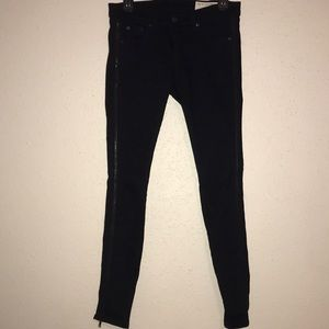 Rag&Bone Zipper Tuxedo Skinny Jeans